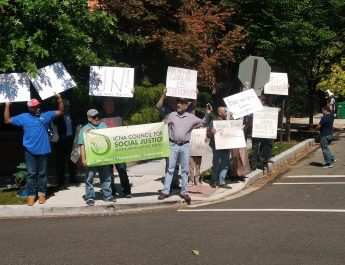 ICNA CSJ Hosts Protest in Front of Burma Embassy in Washington, D.C.