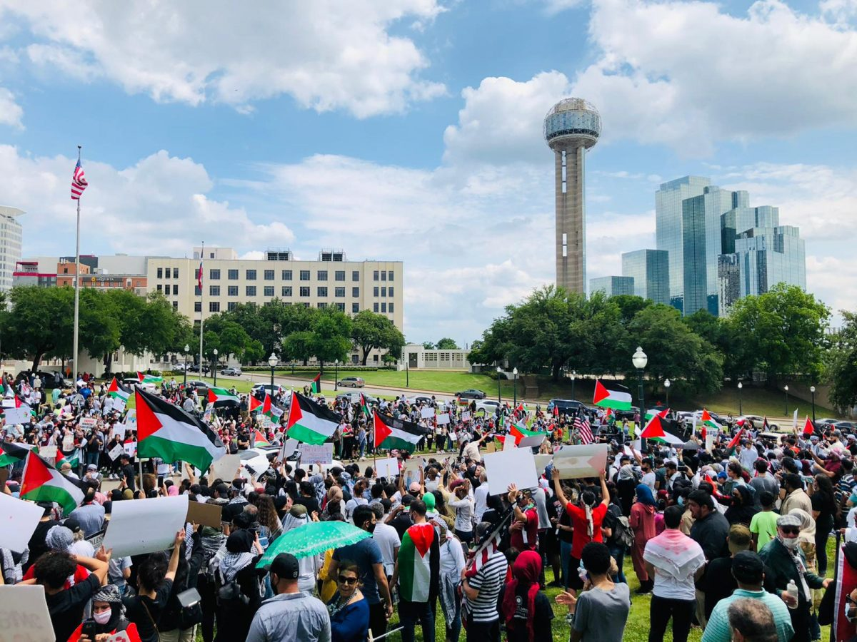 Thousands of protesters at the Dallas, TX Protests